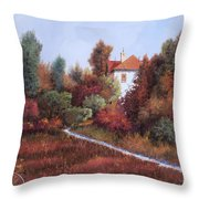 Mezza Bicicletta Nel Bosco Throw Pillow