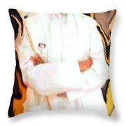 Mf Hussain-indian Art Master Throw Pillow