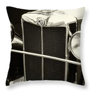 Mg Tc Sports Grill - Vintage Throw Pillow