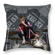 Mgk Drums Throw Pillow