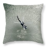 Mh-60r Sea Hawk Helicopter Throw Pillow