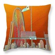 Mhh Bridge Abstract Throw Pillow