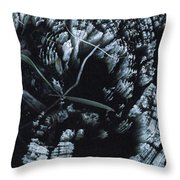 Mi In The Log Throw Pillow