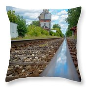 Mi New Haven Rail Road Reflections Throw Pillow