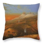 Mi Pueblo Blanco Olvera Throw Pillow