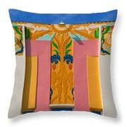 Miami Beach Art Deco Throw Pillow