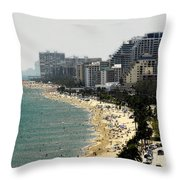 Miami Beach Fla Throw Pillow