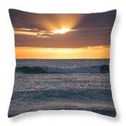 Miami Beach Florida Sunrise Throw Pillow