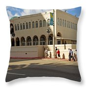 Miami Beach Synagogue Saturday Morning Throw Pillow