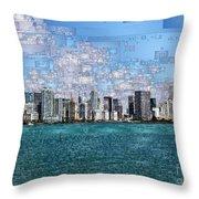 Miami, Florida Throw Pillow