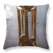 Miami Hard Rock Brass Rail Throw Pillow