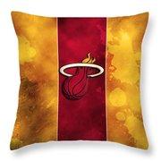 Miami Heat Throw Pillow