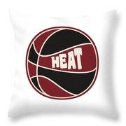 Miami Heat Retro Shirt Throw Pillow