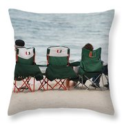 Miami Hurricane Fans Throw Pillow