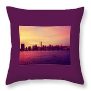 Miami Nights Throw Pillow