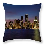 Miami Nights Throw Pillow