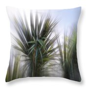 Miami Palms Throw Pillow