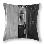 Miami Pay Phone Throw Pillow