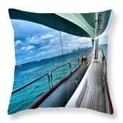 Miami Reflection Throw Pillow
