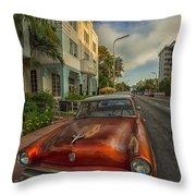 Miami Ride Throw Pillow