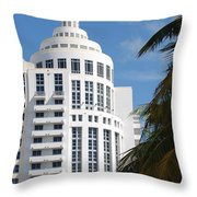 Miami S Capitol Building Throw Pillow