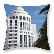 Miami S Capitol Building Throw Pillow
