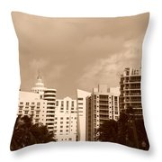Miami  Sepia Sky Throw Pillow