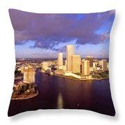 Miami Skyline 3 Throw Pillow