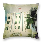 Miami South Beach Ocean Drive 3 Throw Pillow