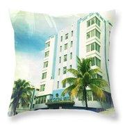 Miami South Beach Ocean Drive 4 Throw Pillow
