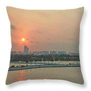 Miami Sunrise Throw Pillow