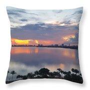 Miami Sunrise Part 1 Throw Pillow