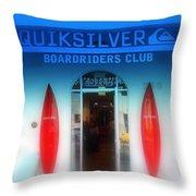 Miami Surfing Paradise  Throw Pillow