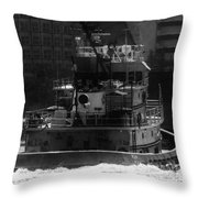 Miami Tug Throw Pillow