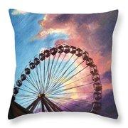 Mia's Ferris Wheel Throw Pillow