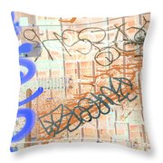 Mic Mouth Inverted Throw Pillow