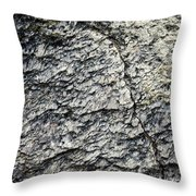Mica Stone Detail With Crack Throw Pillow