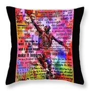 Michael Air Jordan Motivational Inspirational Independent Quotes 3 Throw Pillow