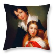 Michael Angelo And Emma Clara Peale Throw Pillow