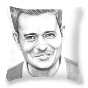 Michael Buble' Throw Pillow