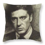 Michael Corleone Throw Pillow