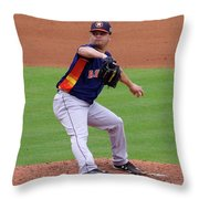 Michael Feliz Houston Astro Pitcher Throw Pillow