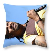 Musician Michael Franti  Throw Pillow