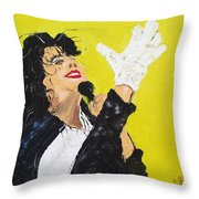 Michael Jackson The Hand Throw Pillow
