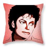 Michael Jackson - Thriller - Pop Art Throw Pillow