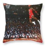 Michael Jordan Custom Painting Throw Pillow