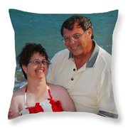 Michael  Peychich And His Sweetheart Throw Pillow by Michael Peychich