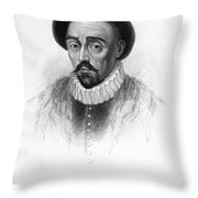 Michel Eyquem De Montaigne Throw Pillow by Granger