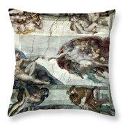 Michelangelo: Adam Throw Pillow