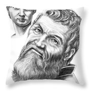 Michelangelo And David Throw Pillow